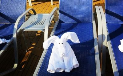 Carnival Dream deck chairs with towel animals